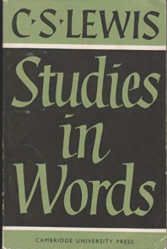 9780521093712: Studies in Words