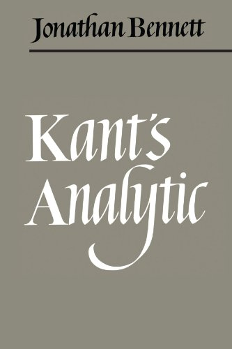9780521093897: Kant's Analytic