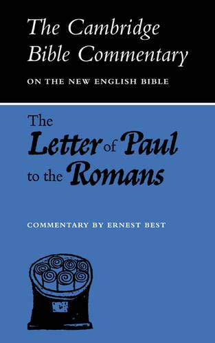 9780521094016: The Letter of Paul to the Romans (Cambridge Bible Commentaries on the New Testament)