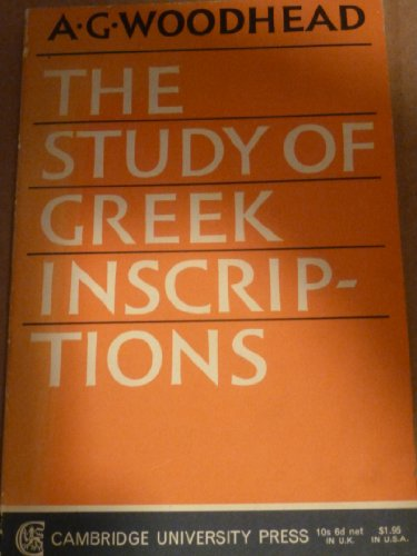 9780521094245: The Study of Greek Inscriptions