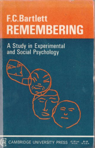 9780521094412: Remembering: A Study in Experimental and Social Psychology