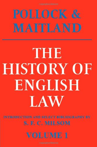 9780521095150: The History of English Law, Volume 1: Before the Time of Edward I