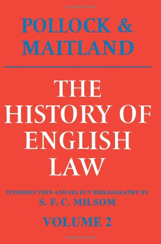 9780521095167: 002: The History of English Law: Volume 2: Before the Time of Edward I