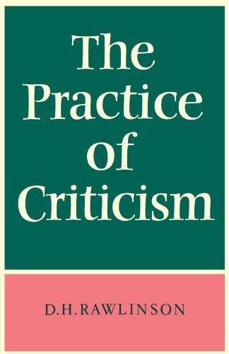 9780521095402: The Practice of Criticism