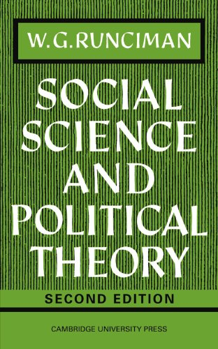 9780521095624: Social Science and Political Theory