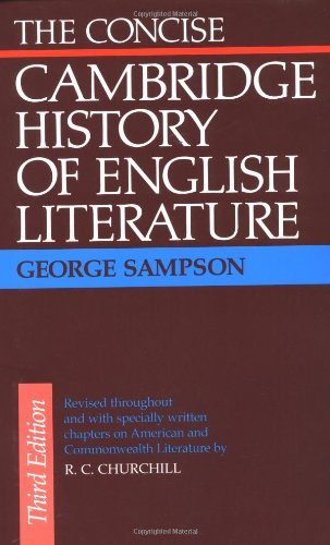 9780521095815: The Concise Cambridge History of English Literature