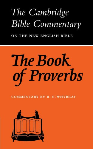 9780521096799: The Book of Proverbs (Cambridge Bible Commentaries on the Old Testament)