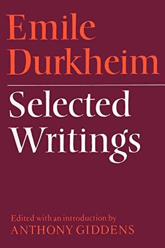 9780521097123: Emile Durkheim: Selected Writings