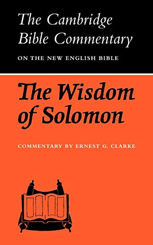 9780521097567: CBC: The Wisdom of Solomon (Cambridge Bible Commentaries on the Apocrypha)