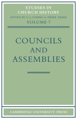 9780521097673: Councils and Assemblies (Studies in Church History)