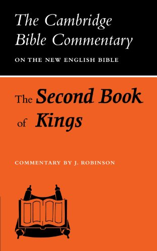 9780521097741: The Second Book of Kings (Cambridge Bible Commentaries on the Old Testament)