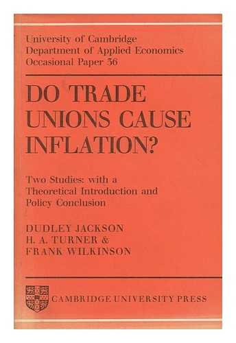 9780521097888: Do Trade Unions Cause Inflation?: Two Studies: with a Theoretical Introduction and Policy Conclusion (Department of Applied Economics Occasional Papers)