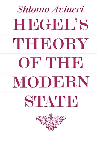 9780521098328: Hegel's Theory of the Modern State (Cambridge Studies in the History and Theory of Politics)