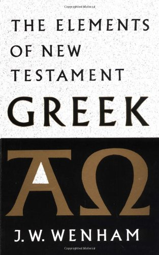 9780521098427: The Elements of New Testament Greek