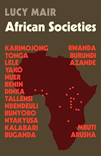 9780521098540: African Societies