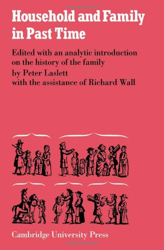 Household and Family in Past Times (Publications: Laslett, Peter, Wall,