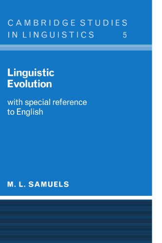 9780521099134: Linguistic Evolution: With Special Reference to English (Cambridge Studies in Linguistics)
