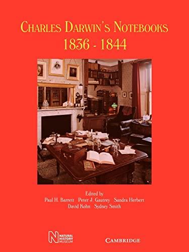 9780521099752: Charles Darwin's Notebooks, 1836-1844: Geology, Transmutation of Species, Metaphysical Enquiries