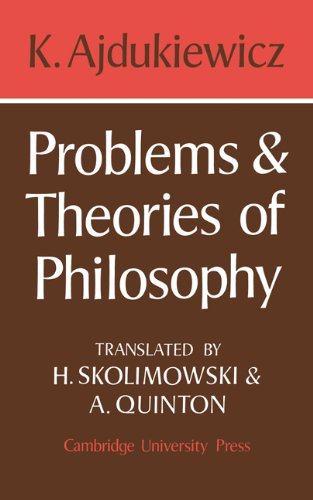 9780521099936: Problems and Theories of Philosophy