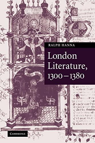 9780521100175: London Literature, 1300-1380 (Cambridge Studies in Medieval Literature)