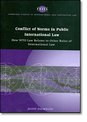 9780521100472: Conflict of Norms in Public International Law: How WTO Law Relates to other Rules of International Law (Cambridge Studies in International and Comparative Law)
