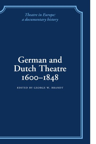 9780521100830: German and Dutch Theatre, 1600-1848