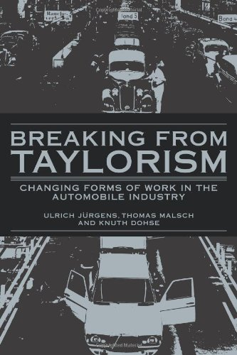 9780521102537: Breaking from Taylorism: Changing Forms of Work in the Automobile Industry