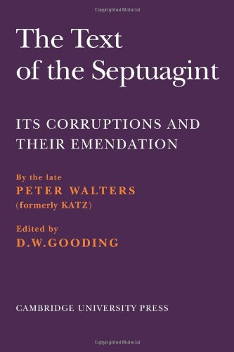 9780521102933: The Text of the Septuagint: Its Corruptions and their Emendation