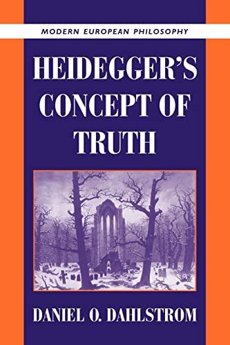 9780521103992: Heidegger's Concept of Truth (Modern European Philosophy)
