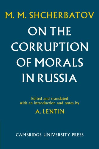 9780521105248: On the Corruption of Morals in Russia