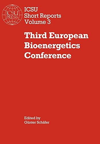 9780521106825: Third European Bioenergetics Conference