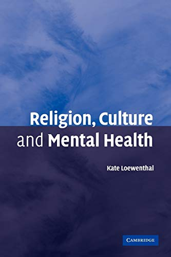 9780521107778: Religion, Culture and Mental Health