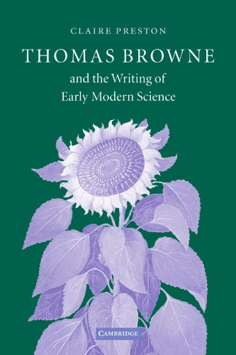 9780521107792 - Preston, Claire, Dr.: Thomas Browne and the Writing of Early Modern Science - كتاب