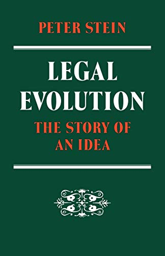 9780521108003: Legal Evolution: The Story of an Idea