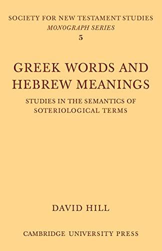 9780521108867: Greek Words Hebrew Meanings
