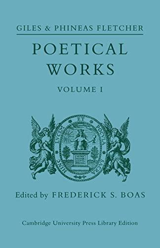 9780521110396: Poetical Works: Volume 1