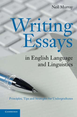 writing essays in english language and linguistics  stock image