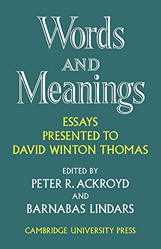 9780521112055: Words and Meanings