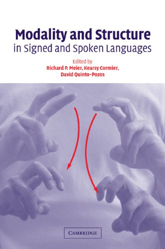 9780521112581: Modality and Structure in Signed and Spoken Languages