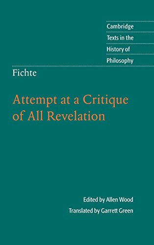 9780521112796: Fichte: Attempt at a Critique of All Revelation (Cambridge Texts in the History of Philosophy)