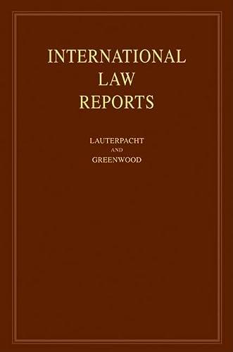 International Law Reports: Volume 139 (Hardcover): Elihu Lauterpacht