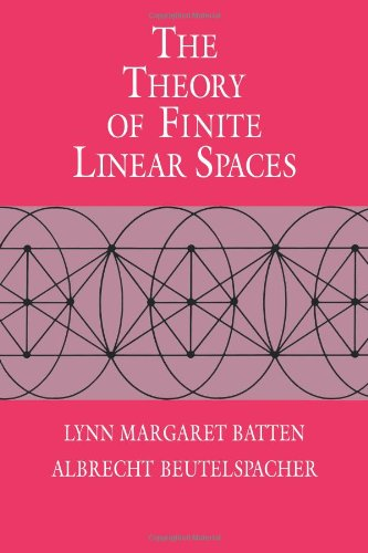 9780521114189: The Theory of Finite Linear Spaces: Combinatorics of Points and Lines