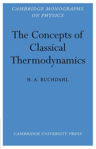9780521115193: The Concepts of Classical Thermodynamics (Cambridge Monographs on Physics)