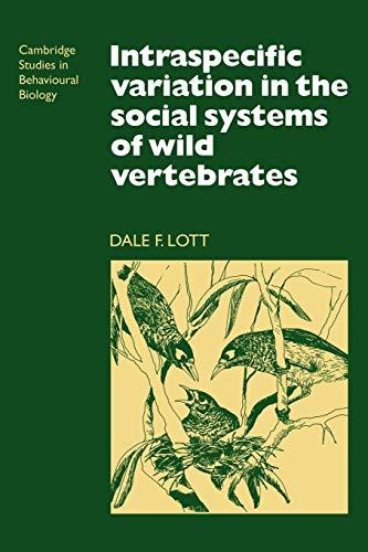 9780521115230: Intraspecific Variation in the Social Systems of Wild Vertebrates (Cambridge Studies in Behavioural Biology)