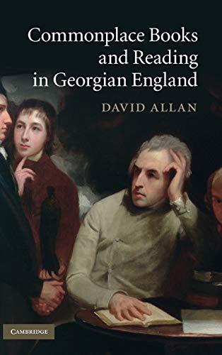 9780521115346: Commonplace Books and Reading in Georgian England