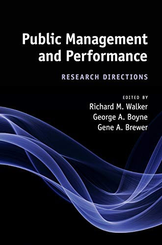 9780521116633: Public Management and Performance: Research Directions