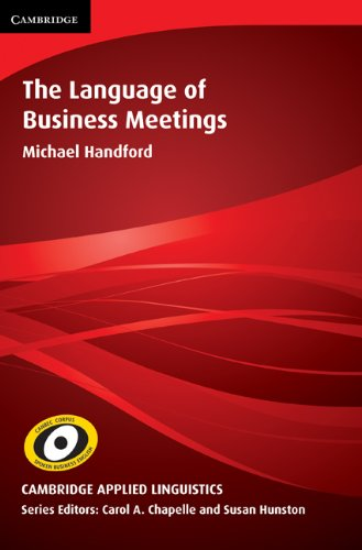 9780521116664: The Language of Business Meetings (Cambridge Applied Linguistics)
