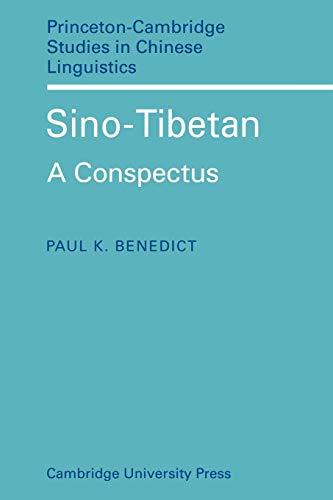 9780521118071: Sino-Tibetan: A Conspectus (Princeton/Cambridge Studies in Chinese Linguistics)