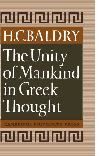 9780521118118: The Unity of Mankind in Greek Thought