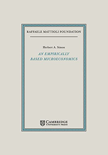 9780521118361: An Empirically-Based Microeconomics (Raffaele Mattioli Lectures)